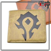 Wholesale World Of Warcraft Wow Horde Waterproofing Leather Men s Wallet Wow Relative Product Anime Product