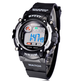 Digital Sports Wrist Watches Men LED Watches Kid Waterproof Mix Colors Drop Free Shipping