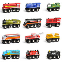Wholesale American maxim brand wooden train set is compatible wooden track