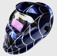 Wholesale Spiderman skeleton Solar Auto Darkening Welding Helmet Mask Welder Cap Welder Goggles Welding Tool UV IR protection