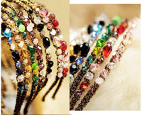 Wholesale colorful Noble crystal Headband Hairpin jewelry crystal shop hair jewelry