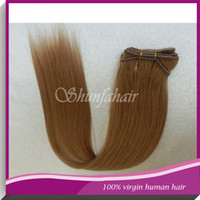 Wholesale Hair Extensions Color straight Real Brazilian Hair Wefts No Shedding Hair Wefts Smoothest and Softest Fast Shipping Hair