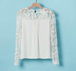 fashion women lace chiffon top clothes