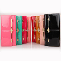 Wholesale 2013 Fashion Women Leather Wallets Diamond Hardware Women Long Wallet Purse B8065a
