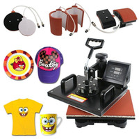 Wholesale Hotting in1 Digital Transfer Heat Press Machine Sublimation T Shirt Mug Hat Plate Cap D1 A