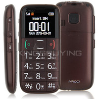 Wholesale ARCCI S728s Phone Single SIM Card Bluetooth FM Inch Large Buttons SOS Coffee