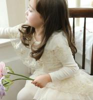 Wholesale Princess Girls Sets Kids Clothing Long Sleeve Gold Flower Embroider T Shirt Lace Tiered Gauze Leggings Pants Suit Girl Set C1346