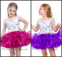 Free Shipping Lovely Mini Crystals Organza Ball Gown Flower ...