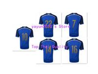 Azul de superior tailandés 2014 Argentina mundial Copa lejos camisetas Tailandia fútbol camisetas de fútbol Jersey