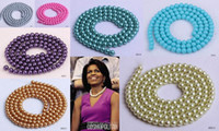 Wholesale Round Faux Glass Pearl Imitation Loose Beads For Jewelry Necklaces DIY Various Choose BDD