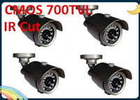 Wholesale 4pc Security CCTV Pixelplus Color PC3089K TVL day and night infrared IR Cmos Camera with small size with IR led