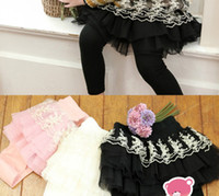 Wholesale Spring Baby Tights Girls Leggings Kids Gauze Bow Lace Tiered Flower Decorated Clothing Girl Pants Bottom Pure Cotton Pantyhose C1345