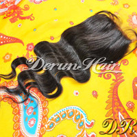 Wholesale Lace Top Closure Body Wave Unprocessed Brazilian Virgin Human Hair quot x3 quot inch Free Parting Middle Parting