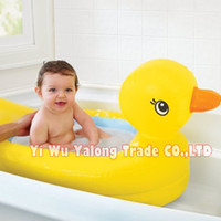 Shower Caps Halloween Tubs Hot sale yellow duck carton style baby infant swimming pool baby kids inflatable bath tubs free shipping