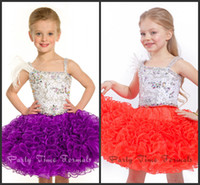 Free Shipping Lovely Crystals Organza Ball Gown Flower Girl ...