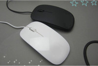 Wholesale New Fashion USB Wired Ultra thin Mouse for Apple Mac Laptop Desktop white