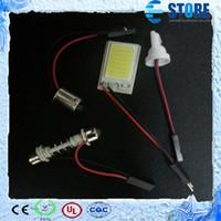 Headlight Switch LED Headlight Switch White 3W COB Chip LED 18 led smd Car Interior Light Panel light T10 Festoon Dome Adapter 12V,wu