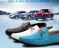 Wholesale England Fashion Popular Men s Casual Loafer Shoes Moccasins Driving Shoes Men footwear matte leather Shoes