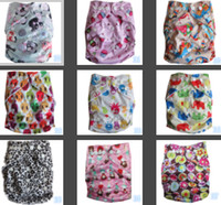 bamboo pocket diaper inserts - 2014 Hot Sales Colorful Baby Diapers Cheaper Baby Nappy Pockets Without Bamboo Charcoal Insert more color for Choosen TH
