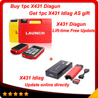 Wholesale 2014 newest In stock Good feedback Launch x431 diagun via vehicles Lifetime free update with X431 Idiag with gift DHL