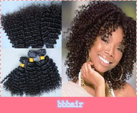 Wholesale brazilian kinky curly virgin hair afro curl human hair extensions full head in stock