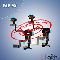 Wholesale For iPhone S Proximity Light Sensor Power Button Flex Cable Ribbon Replacement