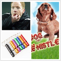 Mini Aluminum Whistle Dogs For Training With Keychain Key Ri...