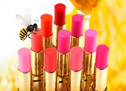 Wholesale Leezi Stunning Color Beeswax Lipstick k Gold High End Honey Lipstick Golden Super Glossy Makeup Lipsticks Lip Gloss Colors For Choose