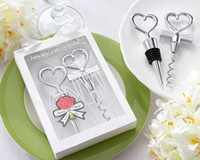 Love Heart Top Wine Stopper and Opener wine opener gift set - Love Heart Top Wine Stopper and Opener Fashion Drinkware Set Valentines Gift Wedding Favors set SH405