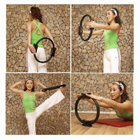 Wholesale Perfect Style Crescent Handle Pilates Yoga Pilates Ring Fitness Circle Fitness Supplies Random Delivery