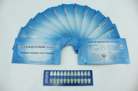 Wholesale 28pcs Teeth Whitening Strips with shade guide tooth whitening products Non Peroxide Gel Strips Mint Flavor sets