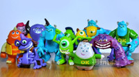 Hot 2014 New Monsters, Inc. PVC Figures set of 12 PVC toys