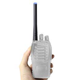 Wholesale UHF MHz SMA F Luminous Short Blue LED Antenna for Radio Kenwood TK BF UV5R s H777 HYT BAOFENG PUXING TYT WOXUN J2545L