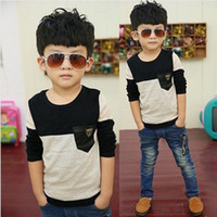 Wholesale 201403 Children s long sleeved T shirt spring models cotton ball can not afford Korean children s clothes spot Q