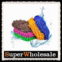 Wholesale Mix color Car Wash Glove Microfiber Chenille Car Cleaning Cloth Chenille Car Cleaning Glove Mitt