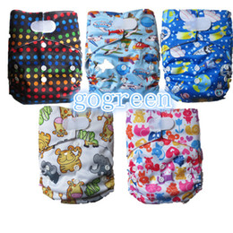 Wholesale Velcro wizard baby cloth diapers cover hook and loop cloth nappies with inserts sets