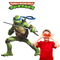 Wholesale Teenage Mutant Ninja Turtles Leonardo Da Vinci Wall Stickers Kids Nursey Cartoon Wall Decals for Boys Room