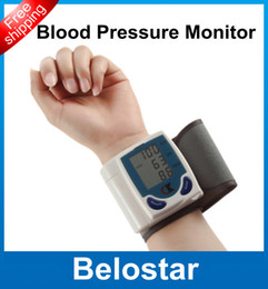 Wholesale LCD Automatic Digital Portable Wrist Blood Pressure Monitor amp Heart Beat Meter Sphygmomanometer