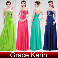 Wholesale Hot Sale Sequins Sweetheart Long Chiffon Prom Dresses Ball Gown Evening Party Formal Zipper Back CL4413