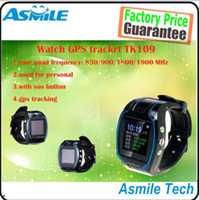United Kingdom gps kids tracker watch - Wholesales Special Offer GSM GPRS GPS TK109 watch tracker for child kid elderly
