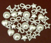 Wholesale 300 Mixed Irregular Flatback Pearl Cabochon Assorted Styles in Cream Color YZ0026