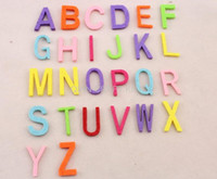 alphabet fabric - Set of mm fabric wool Felt Letter Alphabet mixed color educational toys patch applique for DIY needle craft BY0111