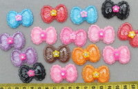 Crystal   Set of 50 pcs mixed lovely Kawaii Bow Rhinestone Cabochon 35mm Cell phone decor, hair accessory supply, embellishment, DIY