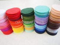 Wholesale Set of cm Felt Pack Felt Circles multiple Colors