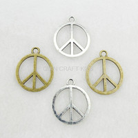 antique handicrafts - set of peace symbol mm antique silver bronze zinc alloy DIY jewelry accessories handicraft charm pendants AY0437
