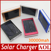 Wholesale DHL free Portable mAh Solar Battery Panel external Charger Dual Charging Ports colors choose for Laptop Cellphone Power Bank