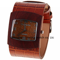 Wholesale Leather Wood Bracelet Watches Watches High Quality ROMA Vintage Watch Quartz watch
