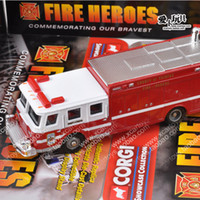 5-7 Years Bus Metal Original American car models paparazzi corgi fire truck toy car 1:43 Multifunction Fire