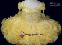 Wholesale 2014 Cute Cupcake little girls pageant dresses infant children formal dancing ball gowns short ruffles sequins flower girls dresses BO5406