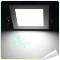 Carrés 6W / 12W / 15W Ultrathin lumières du panneau de LED AC 110V-265V Encastrées Plafonniers froid / blanc chaud 002120